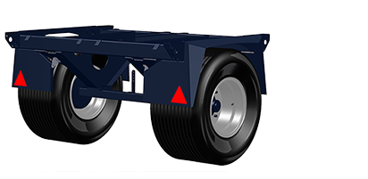 Narrow single axle 2 m wide (up to 5 tonnes)